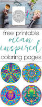 coloring pages set of free ocean inspired printables