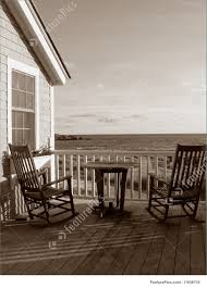 beach cottage porch with rocking chairs image