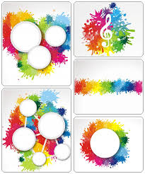color splash banners vector stock all design template