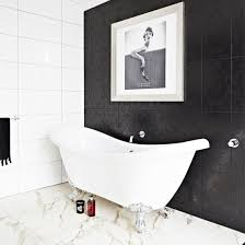 Black And White Bathroom Designs Ideal Home - Black bathroom design ideas