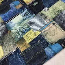 tissu canapé au mètre 1 mètre poche imprimé linge patchwork tissu à coudre matériel