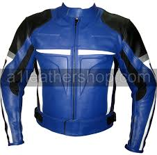 blue motorcycle jacket black blue motorcycle jacket with white and silver patches