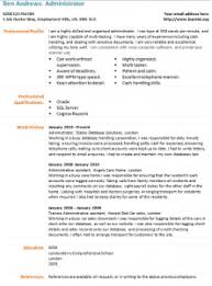 Resume Templates For Administration Job by Administrator Cv Template Learnist Org It Cv Template Cv Library