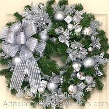 holiday time pre lit 18 christmas garland multi lights silver bells christmas wreath artificialchristmaswreaths com
