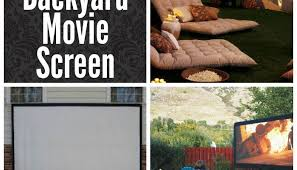How To Make A Backyard Movie Screen by How To Build A Diy Backyard Movie Screen U2013 Homemade Ideas