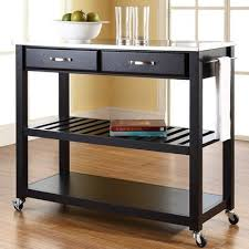 stainless steel topped kitchen islands amazon com kitchen cart stainless steel top island butcher block
