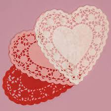 heart shaped doilies 6 pink white heart shaped paper doilies lace s day