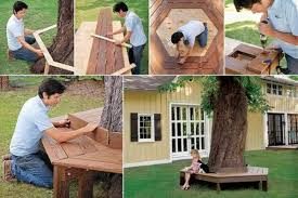 diy bench around a tree find fun art projects to do at home and