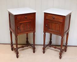 marble top bedside table pair of french rosewood marble top bedside cabinet antiques atlas