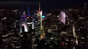 amazing view of nyc at night from empire state building youtube
