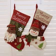 1pc decoration santa claus snowman velvet