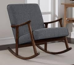 Modern Wooden Rocking Chair Modern Rocking Chair Wooden Retro Vintage Mid Century Rocker Grey