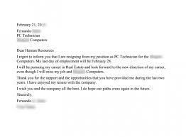 write a sample letter of resignation