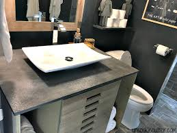 Diy Vanity Top Vanity Top Made From Concrete Diy For Less Uncookie Cutter