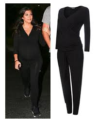 pregnancy jumpsuit kourtney wears the oliver rosliston maternity