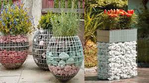 amazing gabion gabion planter design ideas unique outdoor ideas