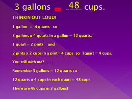 32 cups to gallons customary units of measurement for capacity ppt