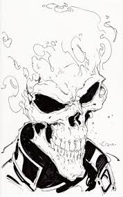 ghost rider in tom miller u0027s various character sketches comic art