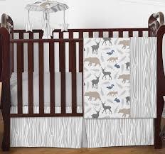 Woodland Nursery Bedding Set by Grey Deer Crib Sheet Creative Ideas Of Baby Cribs