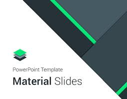 design powerpoint material design powerpoint template on behance