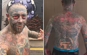 meet the man who tattooed his and 90 percent of his body