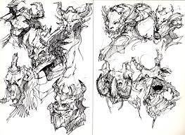 monster sketch draw monster draw