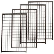 lucky dog 4 ft w x 8 ft l modular welded wire kennel kit cl