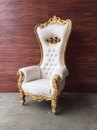 Throne Style Chair Crown Rococo Throne Chair Authentic Antique U0026 Custom Furniture