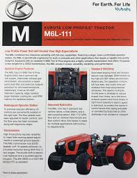 introducing kubota m6l 111 low profile orchard tractor garton