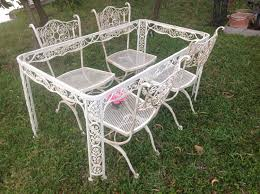 Wrought Iron Patio Dining Set - vintage patio furniture set ornate wrought iron french country