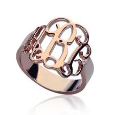 Monogram Initial Ring Best Gold Monogram Ring Products On Wanelo