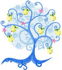 apple tree machine embroidery design