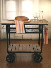industrial style kitchen trolley kitchen island on metal wheels