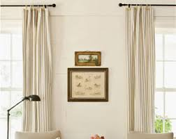 Rust Colored Curtains Striped Curtains Etsy