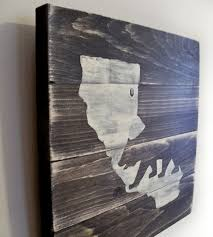 distressed wood artwork california map wood pieces thula scoutmob
