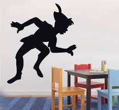 popular silhouette wall sticker buy cheap silhouette wall sticker g158 peter pan decal wall sticker silhouette home decor art elf girl wall stickers personality children s