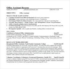 office assistant resume free assistant resume foodcity me