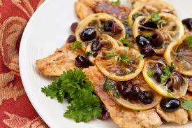 italian olives chicken scallopini with lemons and olives italian food forever