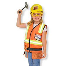 Digger Halloween Costume Amazon Melissa U0026 Doug Construction Worker Role Play Costume