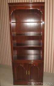 ethan allen kling solid cherry lighted china cabinet bookcase wall
