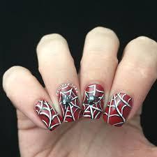 nail art halloween nail art orange tip with black underlining