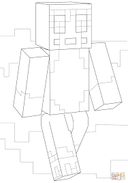 minecraft stampy coloring page free printable coloring pages