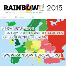 European Country Map by Rainbow Europe 2015 Ilga Europe