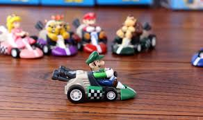 super mario bros kart pull car figures 6pcs free shipping