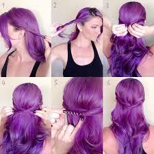 Frisuren Lange Haare Mit Farbe by Knallige Lila Haarfarbe Berühmtheiten Haare Und Frisuren Lila