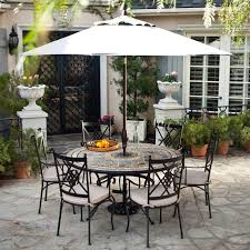 enchanting round outdoor dining sets for 6 home styles stone