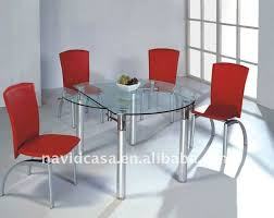 Round Glass Dining Table And 4 Chairs Round Glass Dining Table
