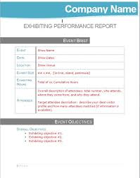 post event report template post show exhibiting performance management report template