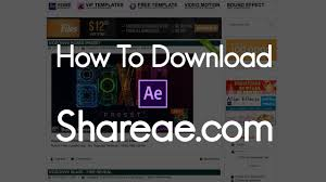 how to download ae templates from shareae com youtube