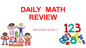 daily math review measurement u0026 data 2 week 1 monday think of